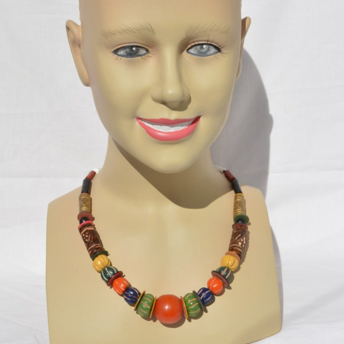 Fair Trade Clay and glass bead necklace JCG1