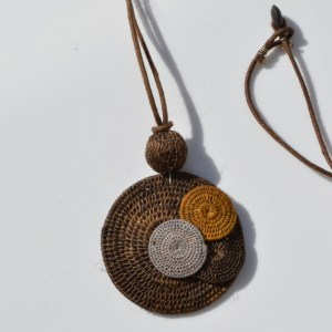Fair Trade Sisal pendant zazi circles browns – JPSzb