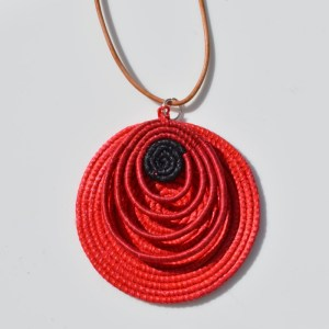 Fair Trade Sisal pendant teardrop reds – JPSr
