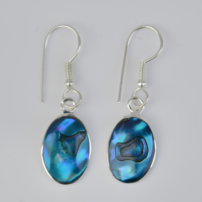 blue paua shell earrings