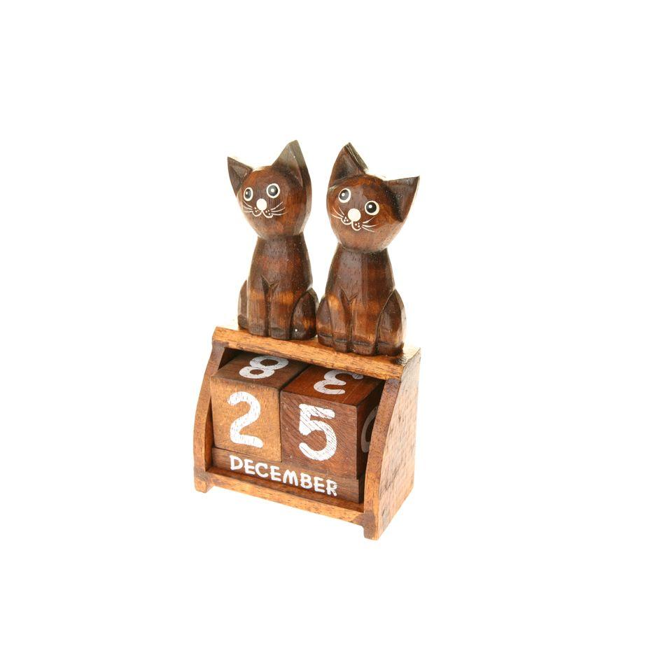 Fair Trade Perpetual Twin Cat Calendar 899 Fair