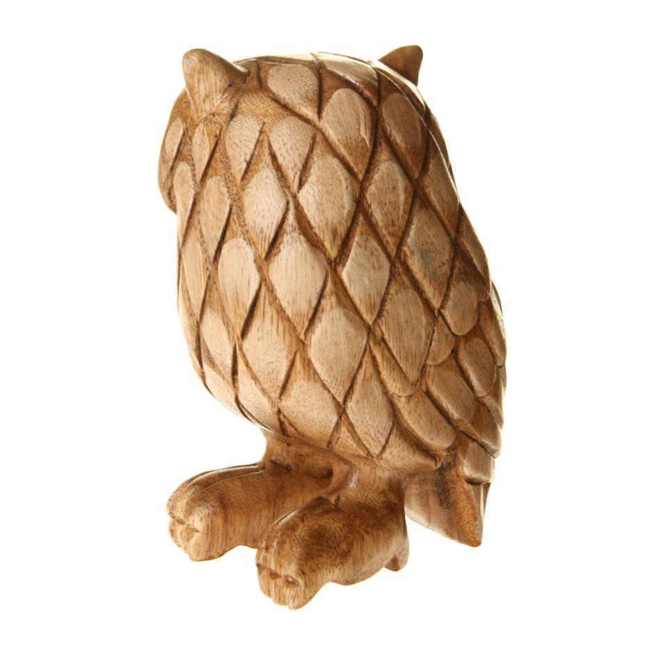 Fair Trade Wooden Owl Carving 1499 Fair Trade Product