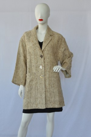 handwoven silk drop shoulder jacket