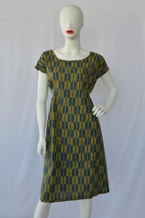blockprinted dress