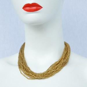 fair trade Masai bead necklace