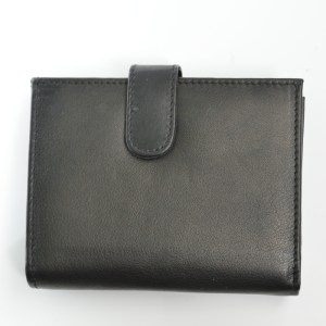 handmade black leather purse