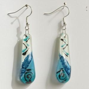 chilean glass earrings