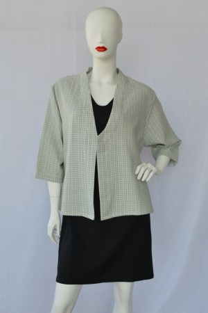 grey asymmetric jacket