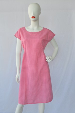 pink ethical summer dress