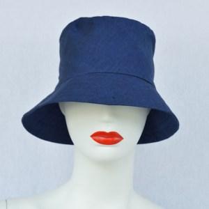 navy blue fair trade bucket hat