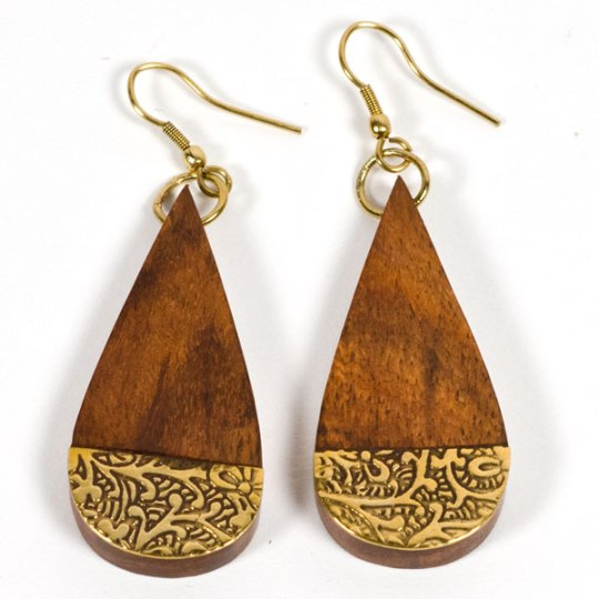 earth fire earrings
