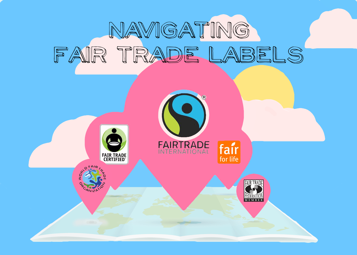 fair trade labels, fair trade logos