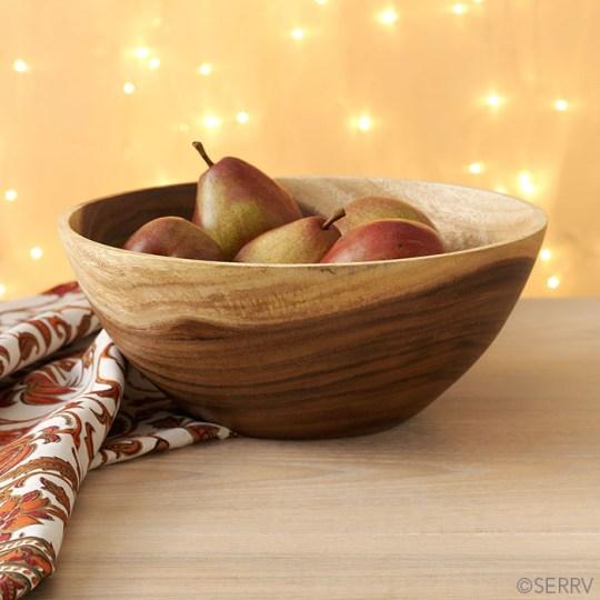 acacia fruit bowl