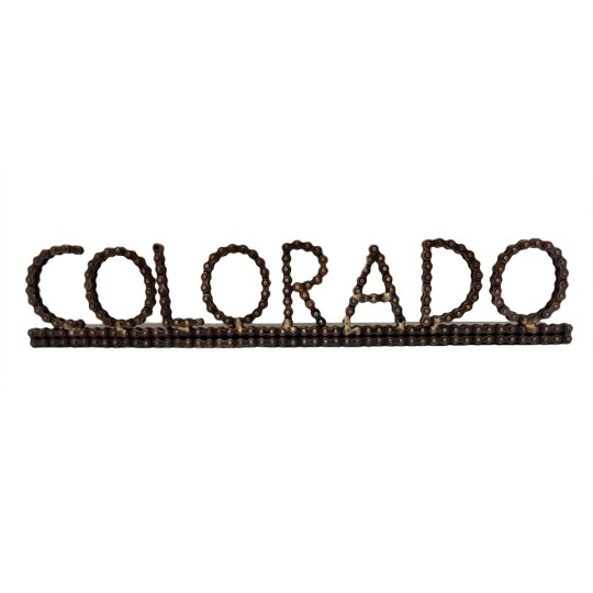 colorado bicycle chain art