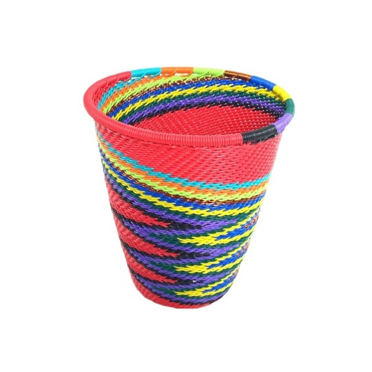 telephone wire cup red rainbow