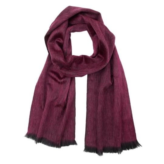 alpaca scarf ruby