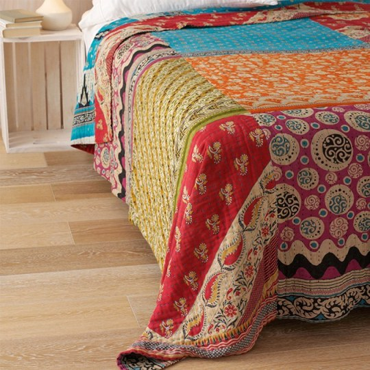 recycled kantha quilt