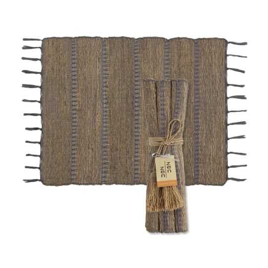 stormy stripes vetiver placemats