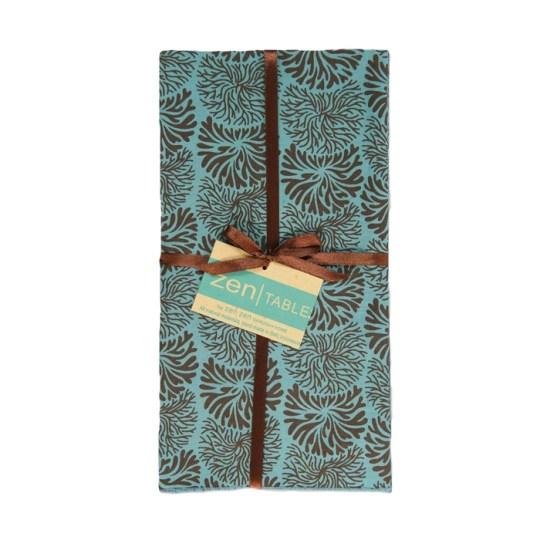 teal brown tumbleweed napkins