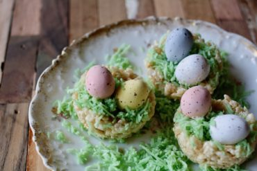 rice krispy chocolate egg nest