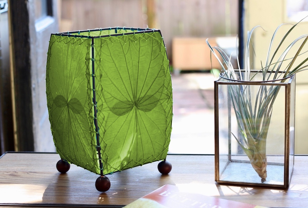 Mini Leaf Table Lamp Green Fair Trade Winds