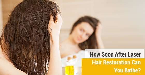 How Soon After Laser Hair Restoration Can You Bathe