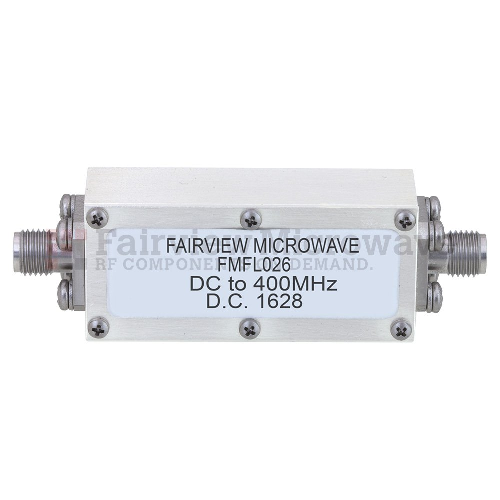 low pass and bandpass sma coaxial filters