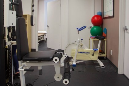 Work out equipment for physiotherapy