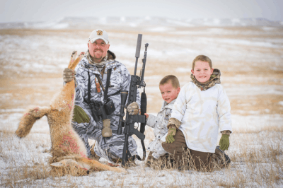 Photo of Geoff Nemnich of Coyote Craze with his sons