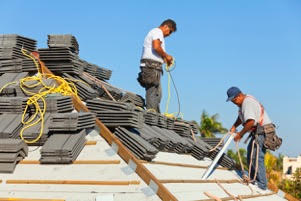 Falls from roofs are considered high-priority hazards by OSHA. (iStock photo)