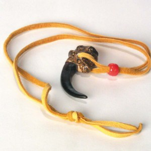 Polyresin Eagle Claw Necklace   3-214-N