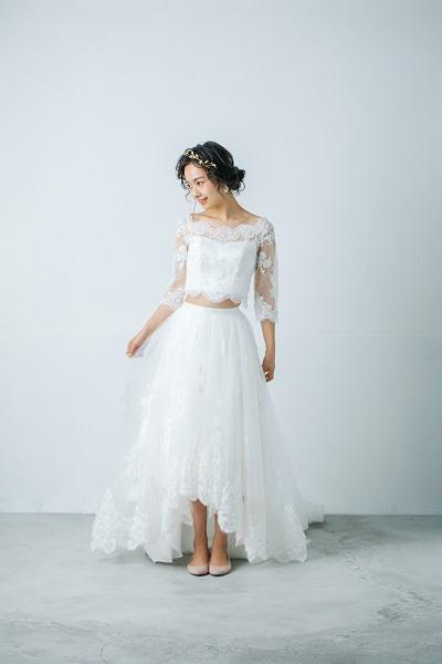 ミモレ丈の新作ウェディングドレス