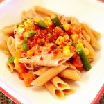 Creamy Garlic Penne with Veggies