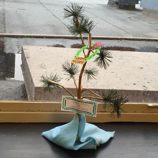 newborn nursery hard times xmas tree