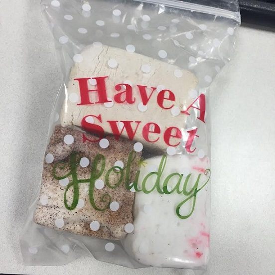 One of my co-interns made marshmallows from scratch! <3 (Coffee, peppermint + cinnamon sugar! *-*)