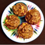tropical protein banana muffins
