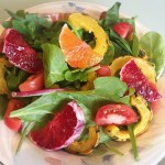 winter citrus and squash salad