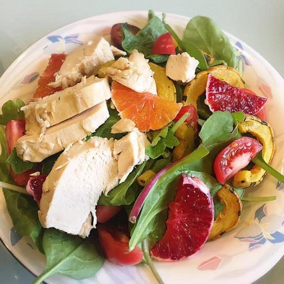 winter citrus and squash salad
