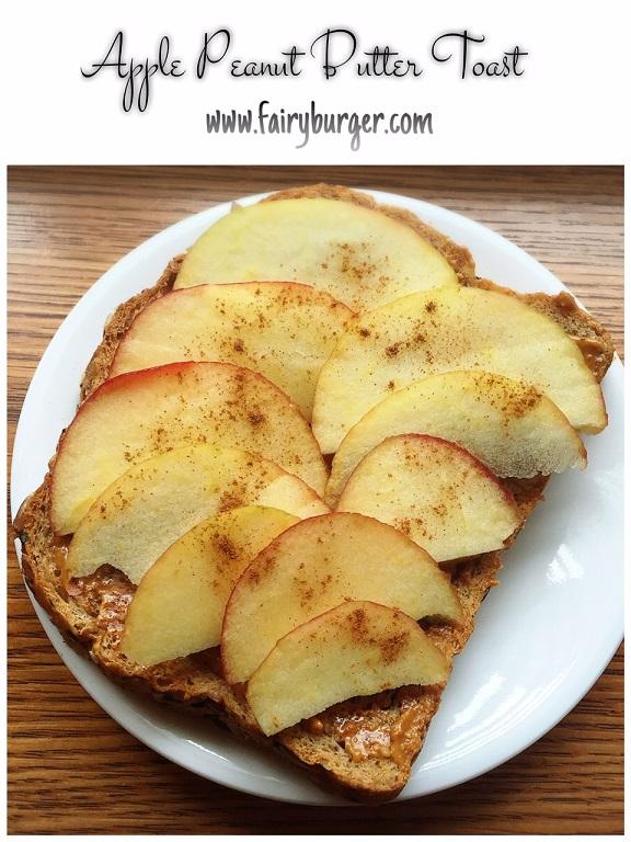 Apple Peanut Butter Toast | @fairyburger