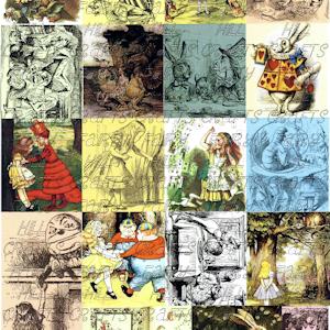 Alice in Wonderland Decoupage Paper