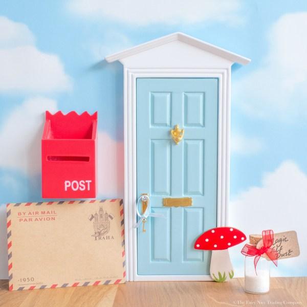 Blue Magic Elf Door with toadstool, UK