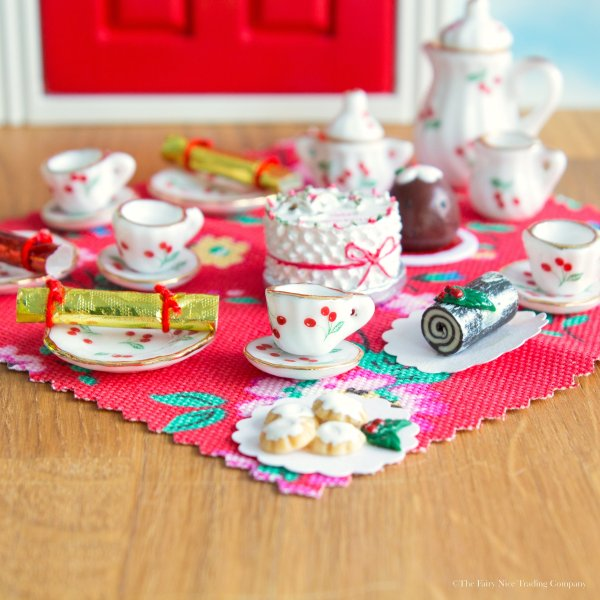 Fairy Door Christmas tea party accessory set uk