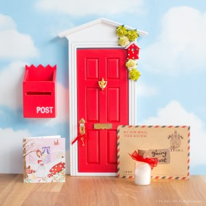 personalised Fairy Door in red, uk