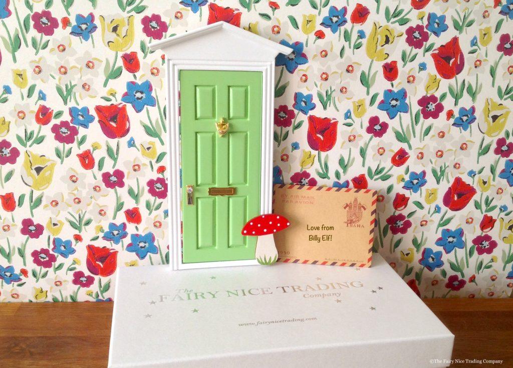 Green Magic Elf Door with gift box
