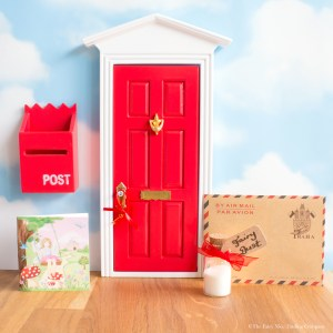 Red Fairy Door with personalised letter