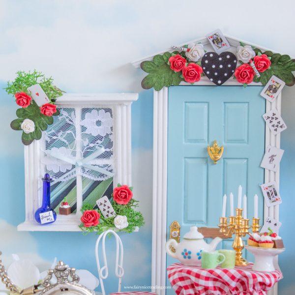 Alice in Wonderland Fairy Door and window