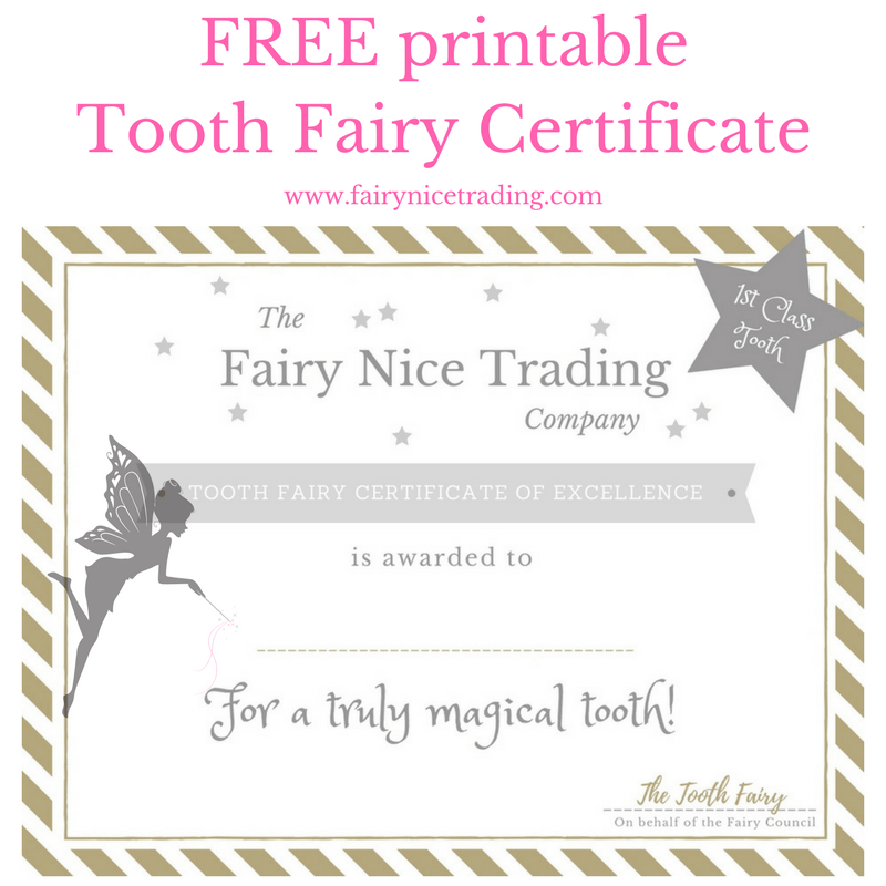 image relating to Printable Tooth Fairy Certificates identified as No cost printable Enamel Fairy certification The Fairy Wonderful