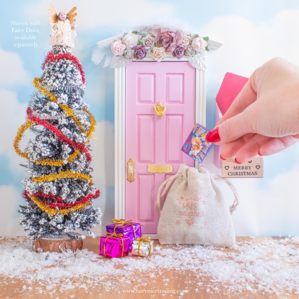 large Christmas fairy door accessory set uk