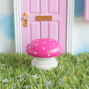 pink Magic Toadstool for Fairy Doors