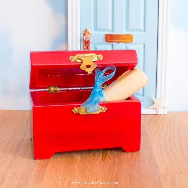 Miniature mermaid treasure chest UK